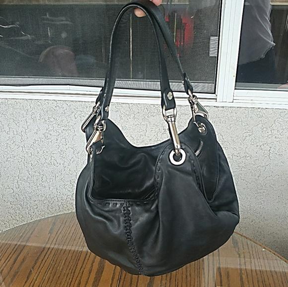 2596e77556 Desmo Handbag Hobo Genuine Leather Made in Italy